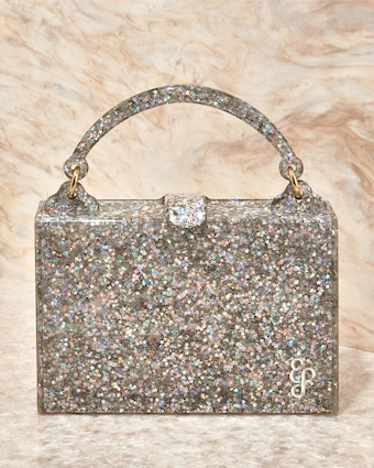Housewife Glitter Acrylic Top-Handle Bag