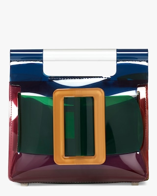 Romeo PVC Color Block Handbag