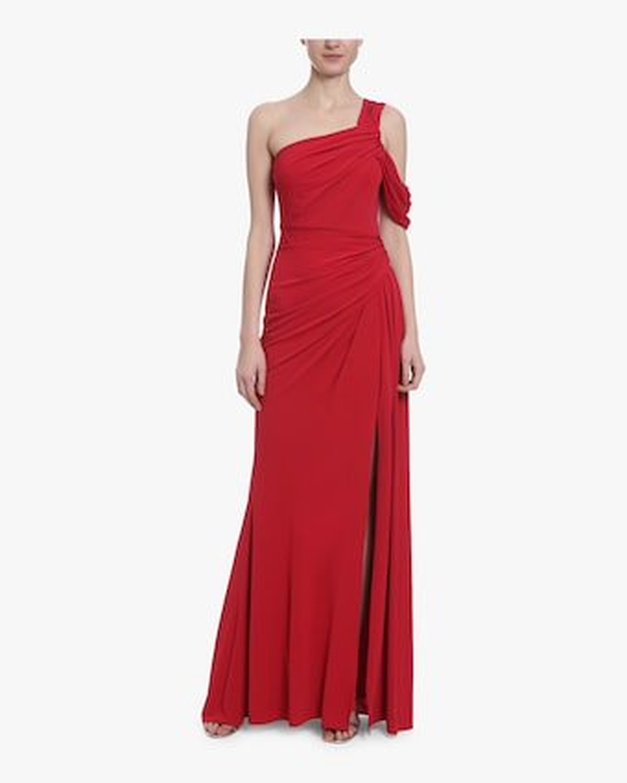 Asymmetrical Draped Gown