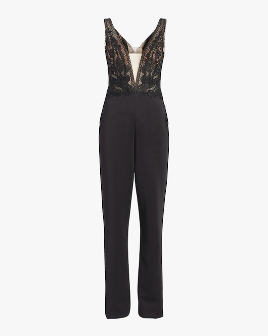 Badgley Mischka Lace Jumpsuit 0