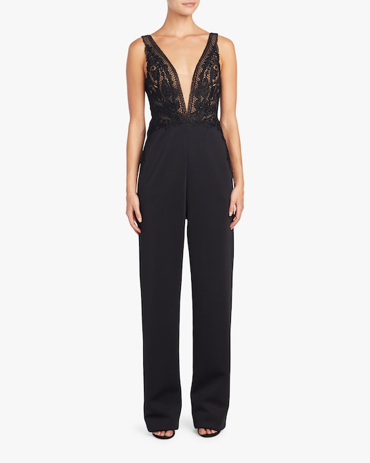 Badgley Mischka Lace Jumpsuit 1