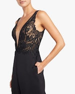 Badgley Mischka Lace Jumpsuit 3