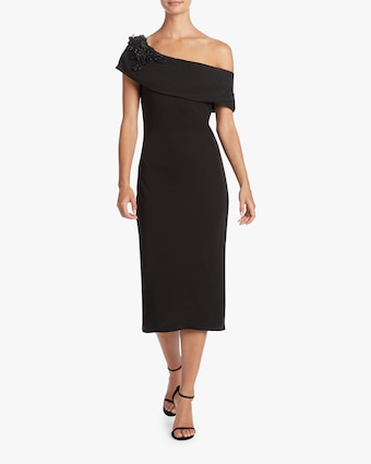 Badgley Mischka Off Shoulder Sheath Gown 2