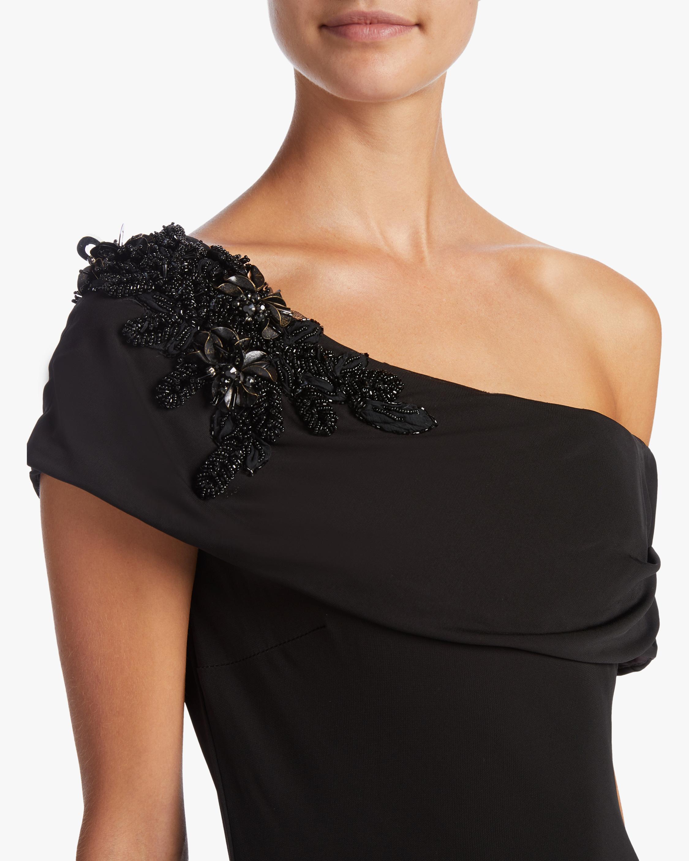 Badgley Mischka Off Shoulder Sheath Gown 2