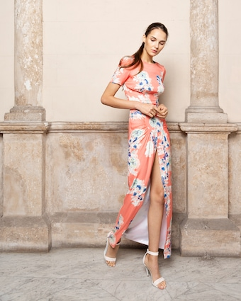 Adriana Iglesias Back Floral Maxi Dress 1