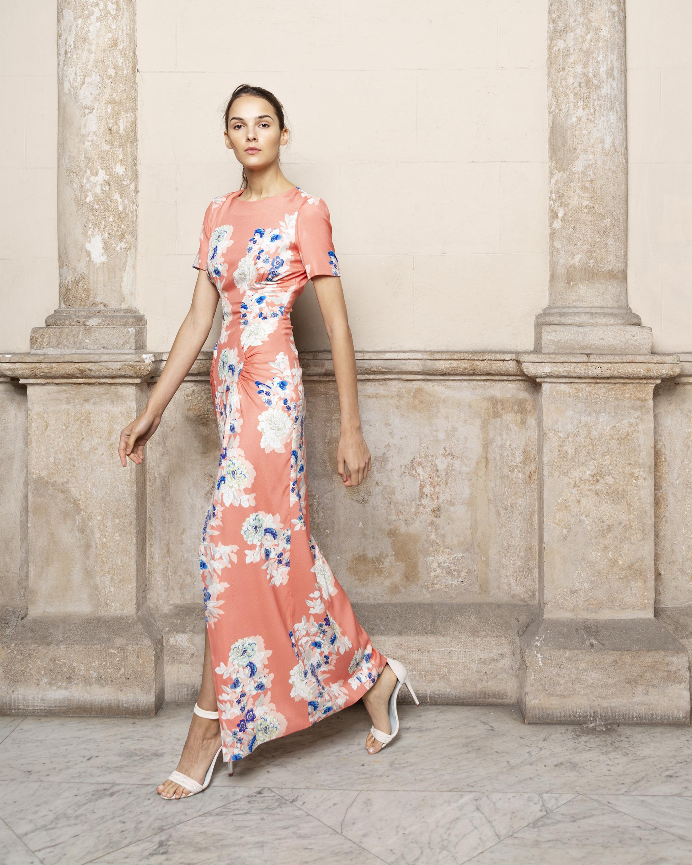 Back Floral Maxi Dress