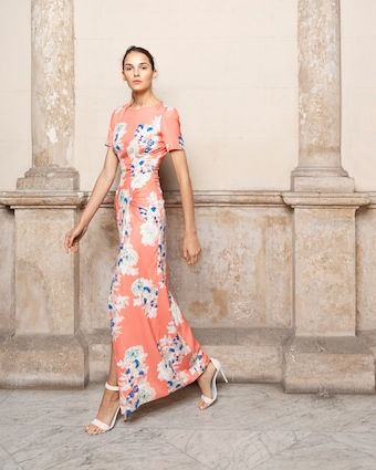 Adriana Iglesias Back Floral Maxi Dress 2