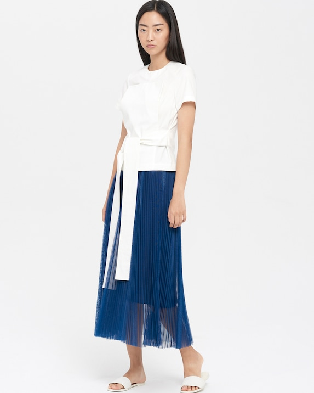4208d080f27ce Claudia Li Tulle Pleated Skirt