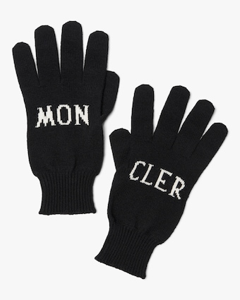 Guanti Tricot Logo Knit Gloves