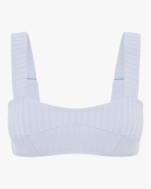 Cornflower Panelled Bikini Top