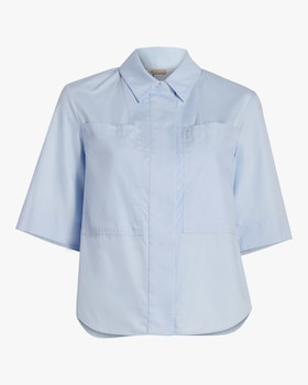 Cotton Poplin Safari Shirt