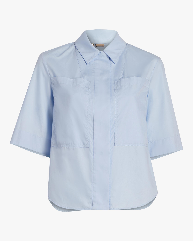Cotton Poplin Safari Shirt