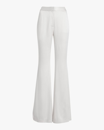 Double Hammered Satin Flare Pants