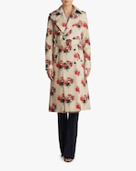 Adam Lippes Printed Cotton Twill Trench Coat 2