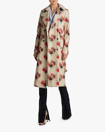 Adam Lippes Printed Cotton Twill Trench Coat 4