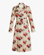 Adam Lippes Printed Cotton Twill Trench Coat 0