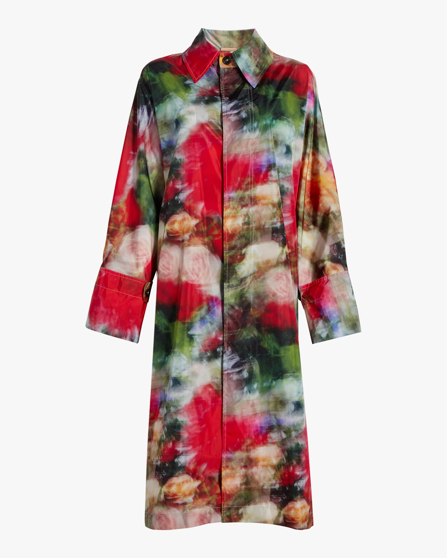 Printed Nylon Raincoat