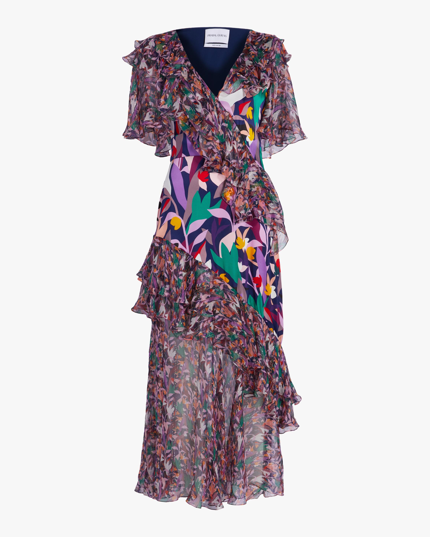 Ruffle Flutter Sleeve Dress