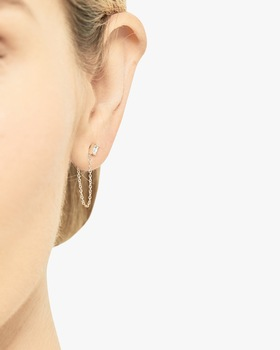 Gaia Single Chain Earring
