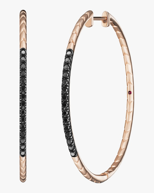 Selin Kent Rhea Baguette Pavé Hoop Earrings 0
