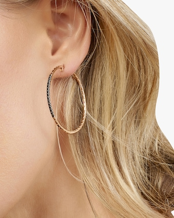 Rhea Baguette Pavé Hoop Earrings