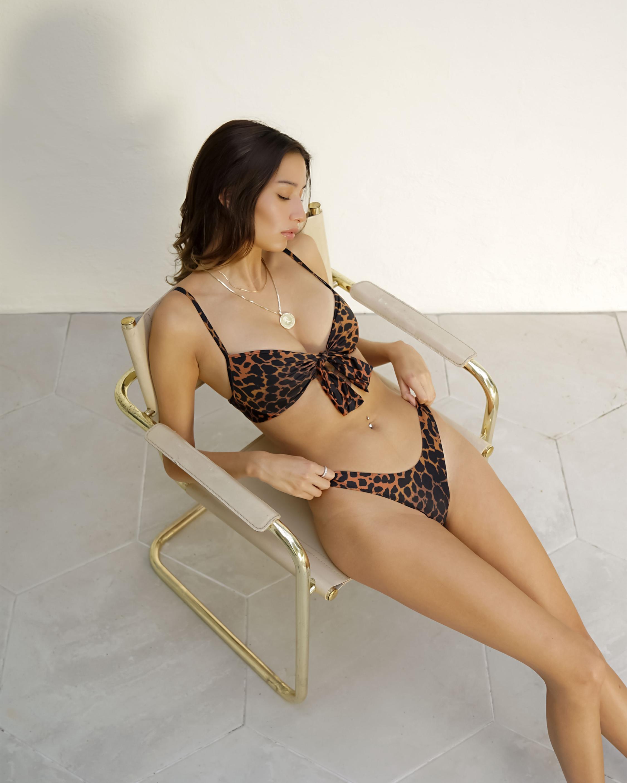 Sidway Swim The Linda Leopard Printed Bikini Bottom 1