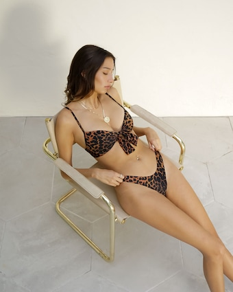The Linda Leopard Printed Bikini Bottom