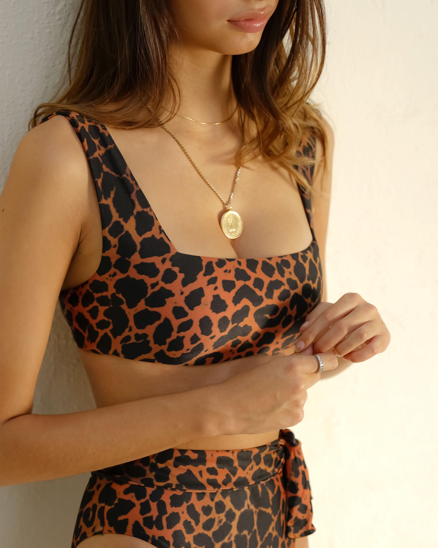 Sidway Swim The Susan Leopard Printed Bikini Top 1