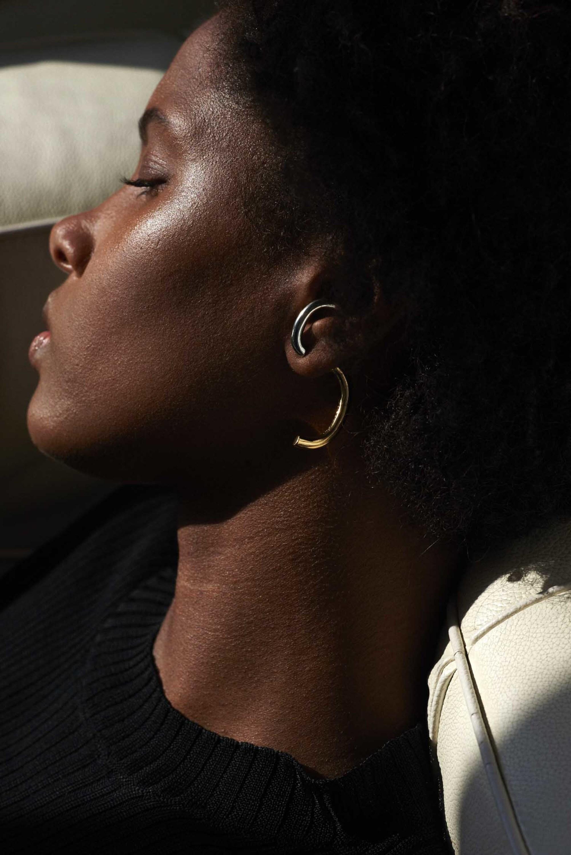 Demarson Luna Convertible Two Tone Earrings 3