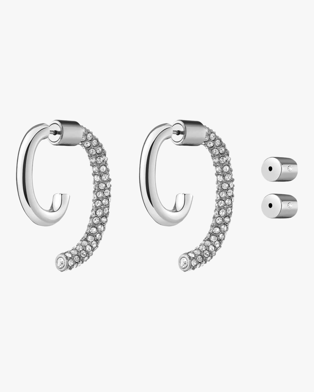 Demarson Pavé Luna Crystal Convertible two tone earrings 1