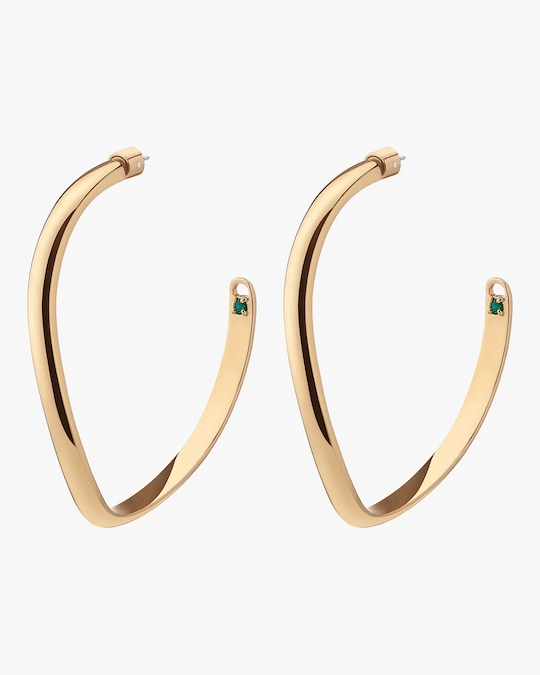 Demarson Calypso Curve Hoop Earrings 0