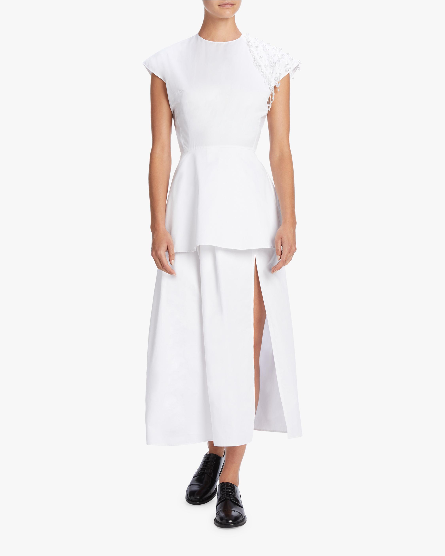 Pearl Cotton Poplin Dress
