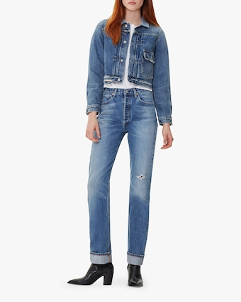 Reese Cuffed Straight Leg Jeans