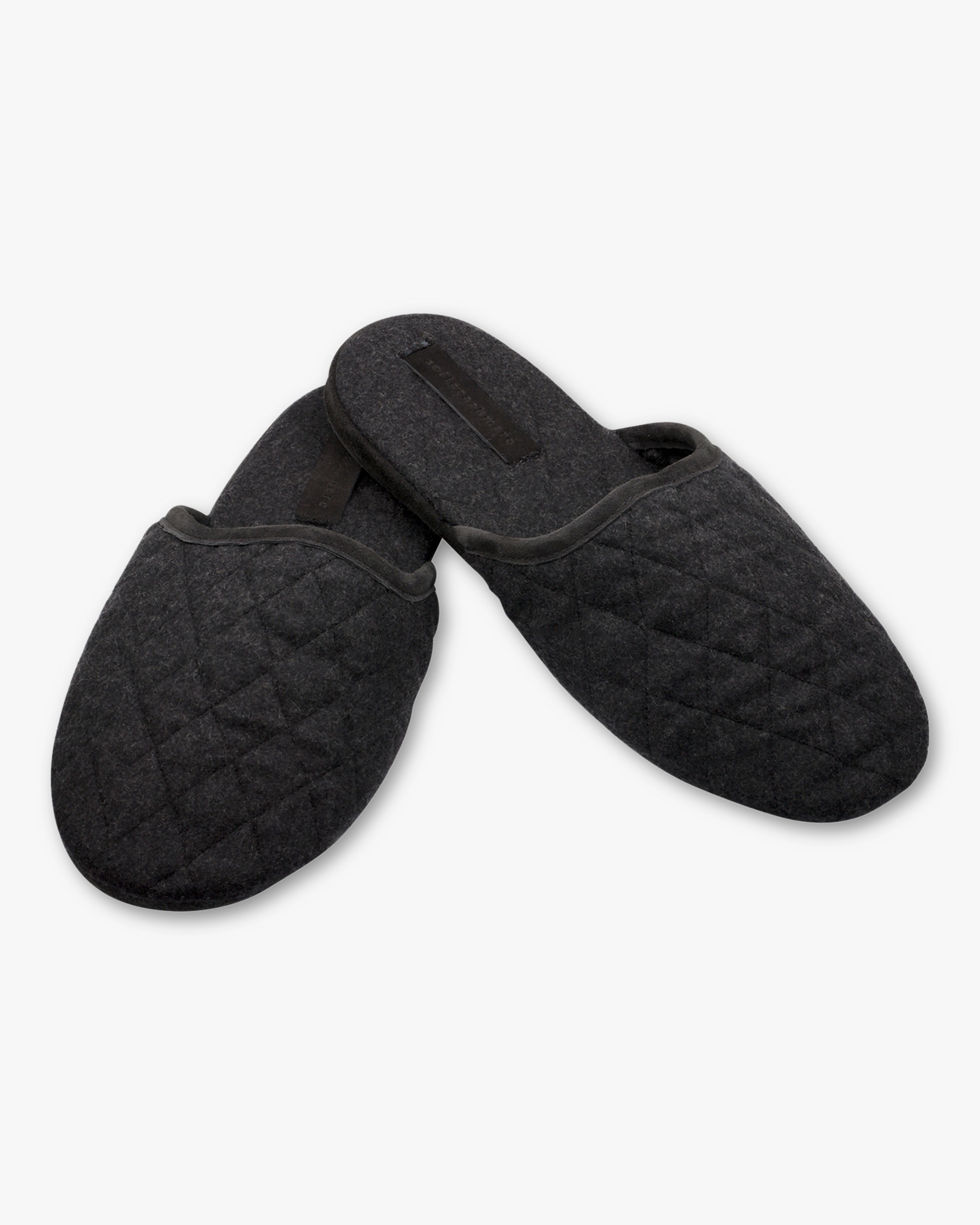 Sofia Cashmere Suede-Trim Quilted Cashmere Slippers 2
