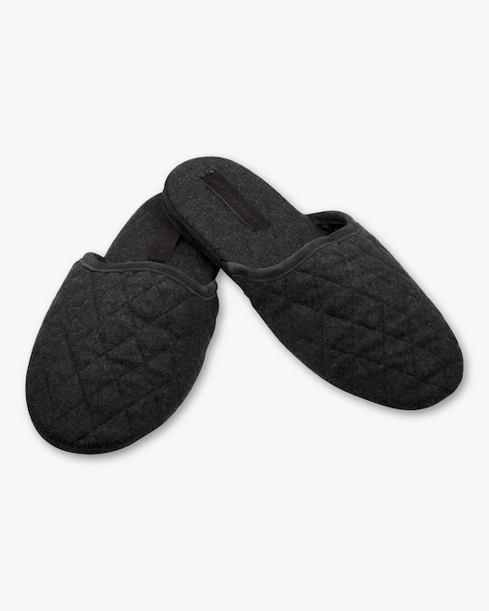 Sofia Cashmere Suede-Trim Quilted Cashmere Slippers 0
