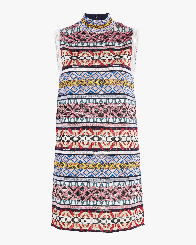 Missoni Jacquard & Sequin Paneled Sleeveless Dress 1