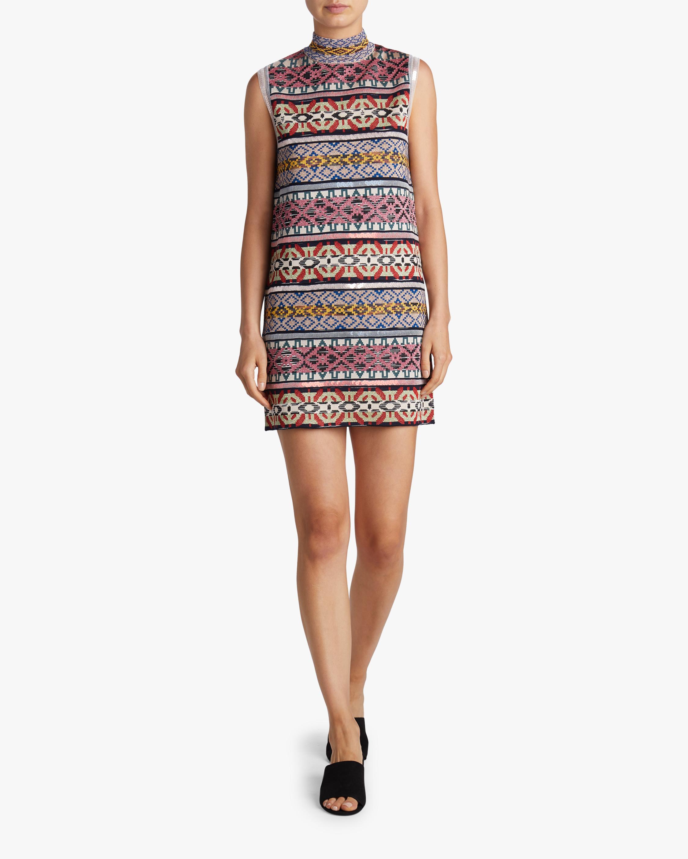 Missoni Jacquard & Sequin Paneled Sleeveless Dress 2