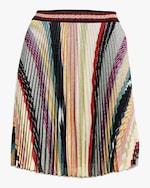 Missoni Rainbow Lurex Plisse Mini Skirt 0