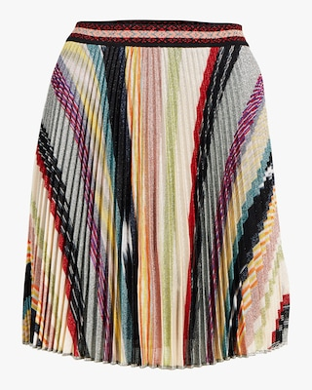 Missoni Rainbow Lurex Plisse Mini Skirt 1