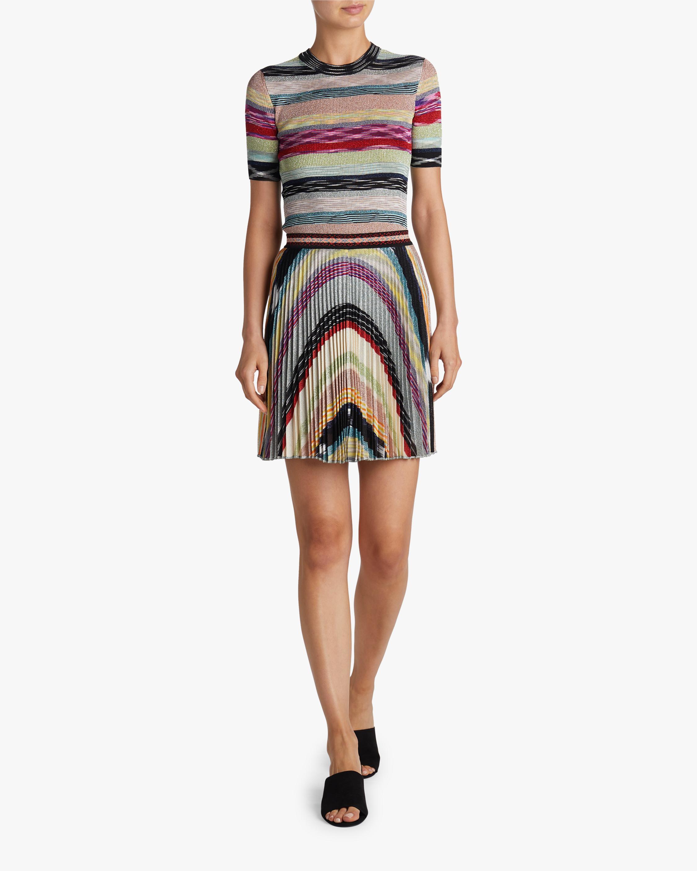 Missoni Rainbow Lurex Plisse Mini Skirt 2