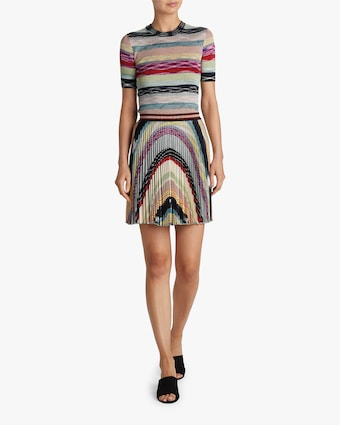 Missoni Rainbow Lurex Plisse Mini Skirt 2