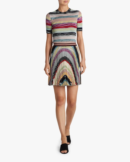 Missoni Rainbow Lurex Plisse Mini Skirt 1