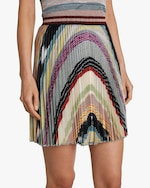 Missoni Rainbow Lurex Plisse Mini Skirt 4