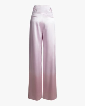 Wide Leg Silk Pants