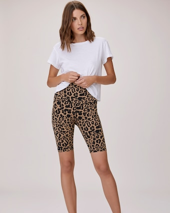 Leopard Bike Shorts