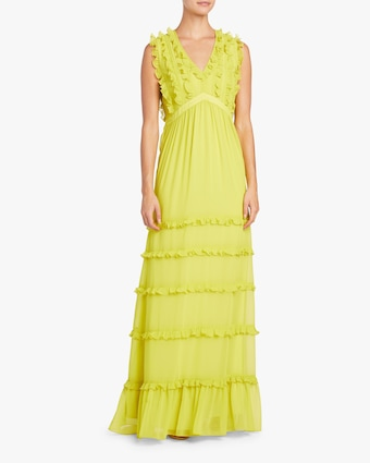 Badgley Mischka Ruffled Maxi Dress 2