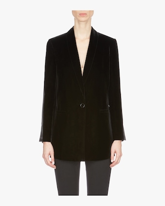 Long Velvet Suit Jacket