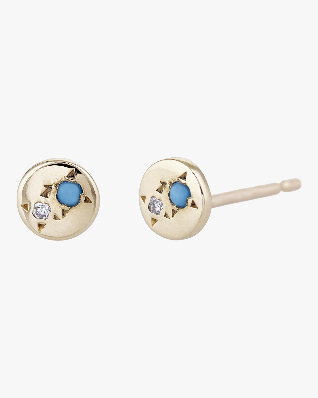 Juxtaposed Stud Earrings