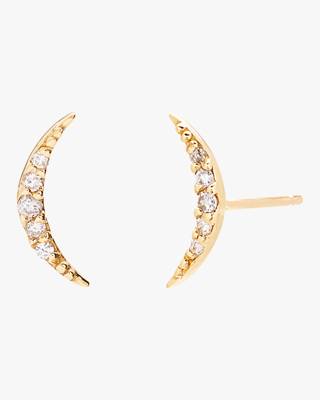 Tiny Crescent Stud Earrings