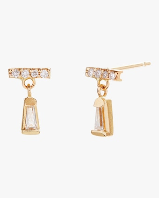 Tiny Diamond Dangle Earrings